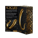 Фаллоимитатор Pipedream для точки G, золотой стеклянный.ICICLES GOLD EDITION 298227PD
