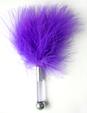 ЩЕКОТАЛКА С ПЕРЬЯМИ цвет фиолетовый, 17см, (ABS, перья) арт. MLF-90003-5